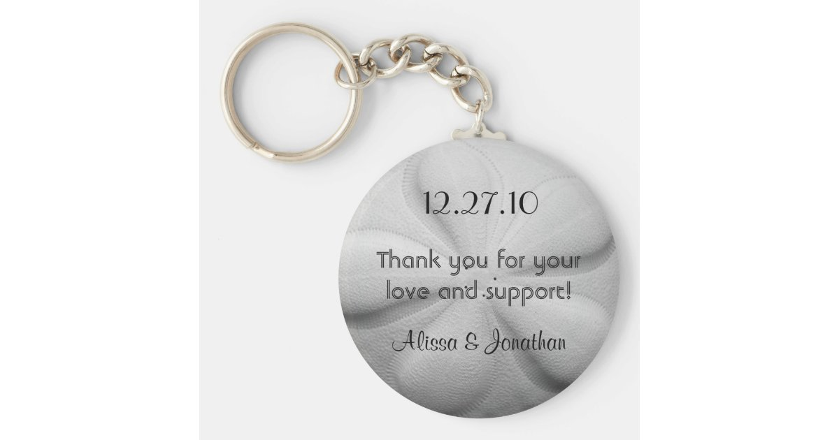 Sand Dollar Personalized Key Ring Wedding Favor Zazzle