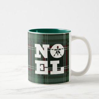 Sand Dollar Plaid Noel Two-Tone Coffee Mug
