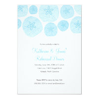 Sand Dollar Rehearsal Dinner Invitation