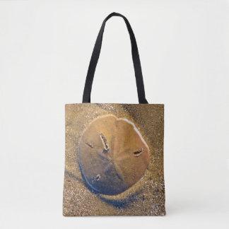 Sand Dollar Revealed On Beach | Hilton Head Island Tote Bag