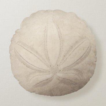 Beach Themed Sand Dollar Round Pillow
