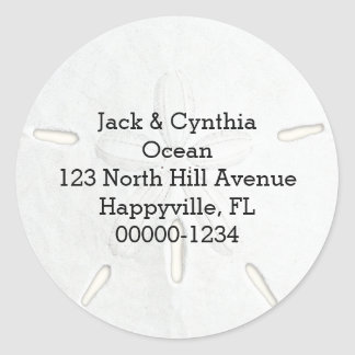 Sand Dollar Round Return Address Labels