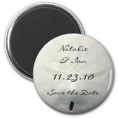 Sand Dollar Save The Date Beach Wedding Magnet at Zazzle