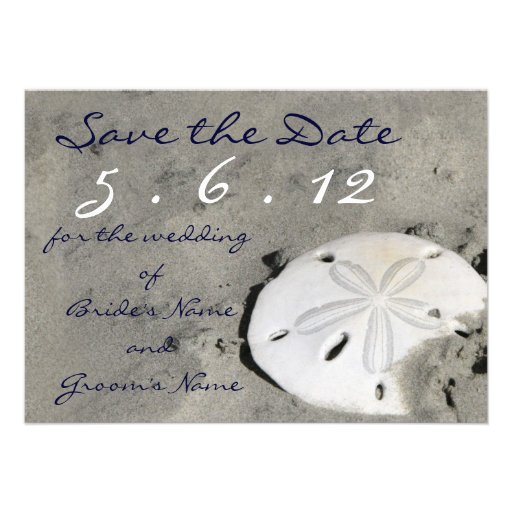 Sand Dollar Save the Date Custom Announcements