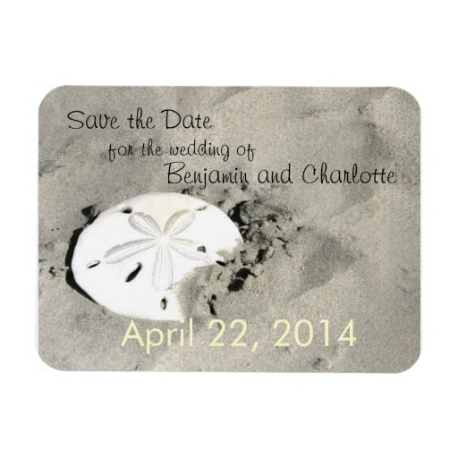 Sand Dollar Save the Date Magnets