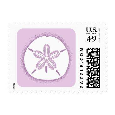 Beach Themed Sand dollar stamp - purple