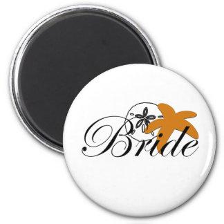 Sand Dollar Starfish Bride Magnet