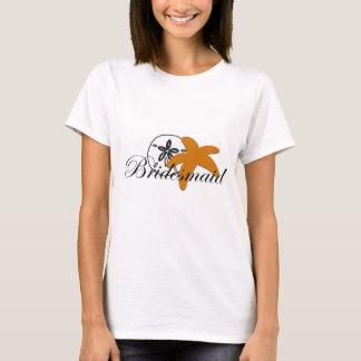 Sand Dollar Starfish Bridesmaid T-Shirt