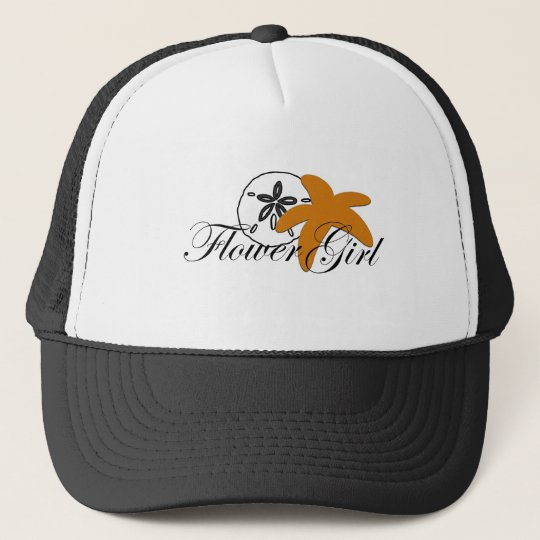 Sand Dollar Starfish Flower Girl Trucker Hat