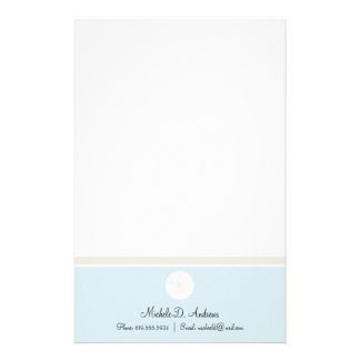 Sand Dollar Personalized Stationery