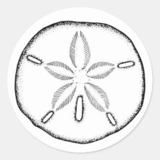 sand dollar round sticker