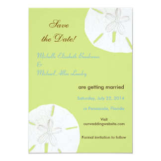 Sand Dollar Tender Shoots Save the Date Card