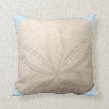 Beach Themed Sand Dollar Throw Pillow