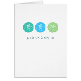 Sand Dollar Vertical Note Cards