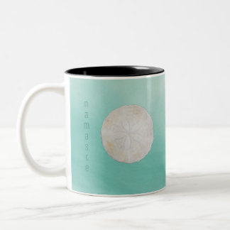 Sand Dollar Watercolor Namaste Coffee Cup