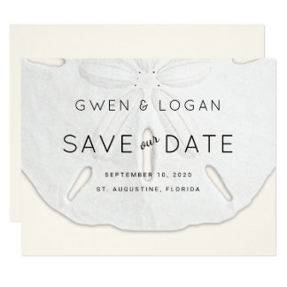 Sand Dollar Wedding Save Our Date Cards