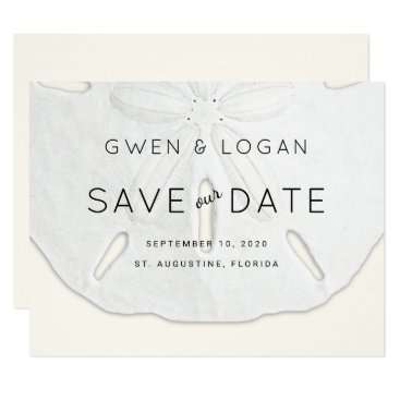 sandpiperWedding Sand Dollar Wedding Save Our Date Cards
