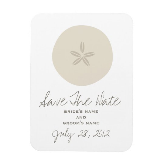 Sand Dollar Wedding Save The Date Magnet