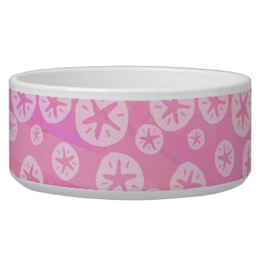 Beach Themed Sand Dollar White and pink Bowl
