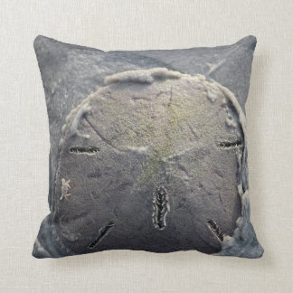 Sand Dollar with Small Crab Riding Throw Pillow
