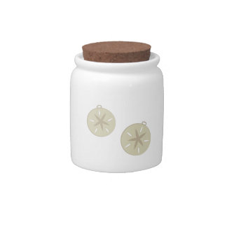 Sand Dollars Candy Jars