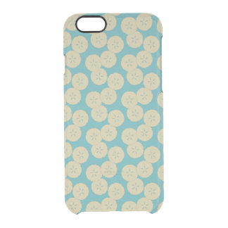 Sand Dollars Pattern gold teal iPhone 6 Clearly Clear iPhone 6/6S Case
