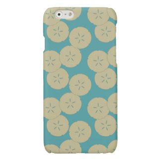 Sand Dollars Pattern gold teal iPhone 6 glossy Glossy iPhone 6 Case
