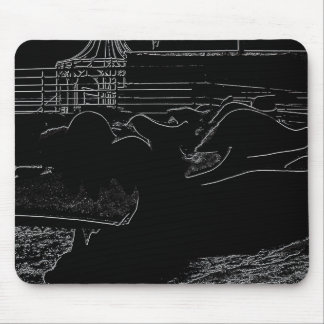 SAND DRAGON IN HIGH CONTRAST MOUSE PAD