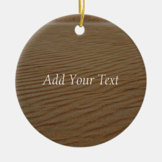 Sand Dune-Abstract by Shirley Taylor Ceramic Ornament