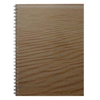 Sand Dune Abstract Spiral Notebook