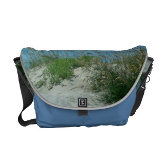 Sand Dune and Sea Oats at Outer Banks Beach Photo Messenger Bag
