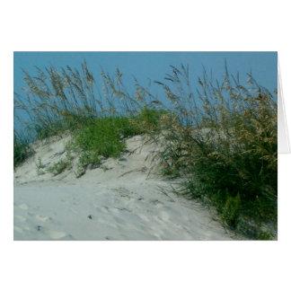 Sand Dune and Sea Oats Ocracoke Island NC Card