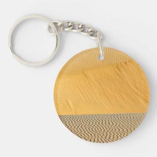 Sand Dune Ripples Keychain