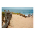 Sand Dune & Sea Fence Poster