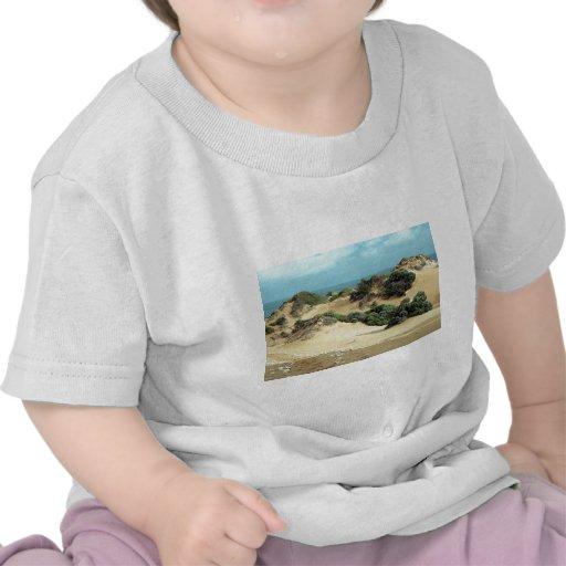 Sand dunes along the coast tshirts