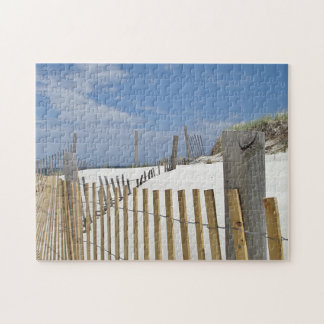 Sand dunes and beach fence jigsaw puzzles