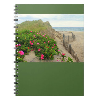 Sand Dunes and Beach Roses Notebook ~ Customizable