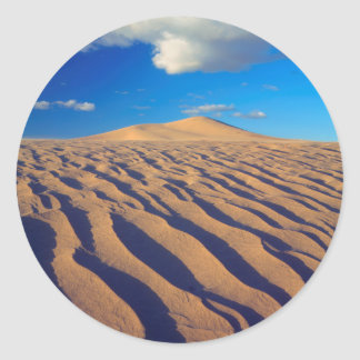Sand Dunes and Clouds Classic Round Sticker