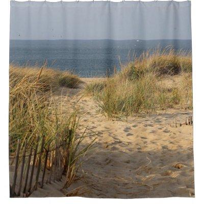 Ocean Beach on Cape Cod Shower Curtain   Zazzle.com