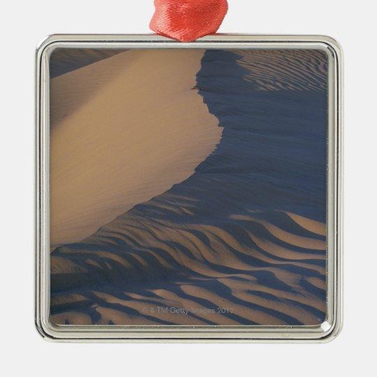 Sand dunes at Mesquite Flats Metal Ornament
