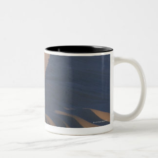 Sand dunes at Mesquite Flats Two-Tone Coffee Mug