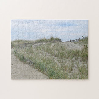 Sand dunes at Nauset Beach, Cape Cod Jigsaw Puzzle