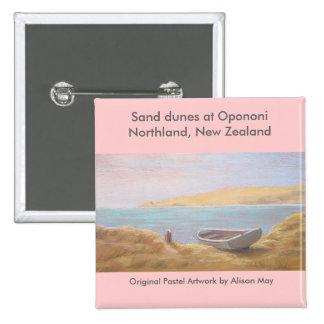 Sand dunes at Opononi, Northland, New Zealand Pins