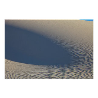 Sand dunes at White Sands National Monument in 4 Poster