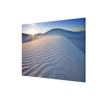 Sand dunes at White Sands National Monument in 5 Canvas Print
