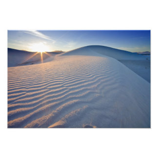 Sand dunes at White Sands National Monument in 5 Photo Print