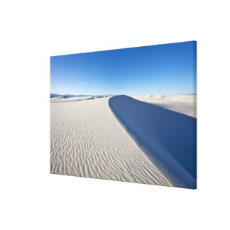 Sand dunes at White Sands National Monument in Canvas Print