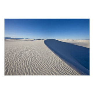 Sand dunes at White Sands National Monument in Poster