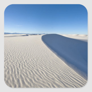 Sand dunes at White Sands National Monument in Square Sticker