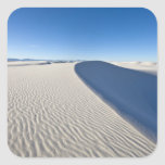 Sand dunes at White Sands National Monument in Square Stickers